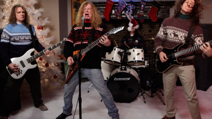 Megadeth and Jenny Lewis Sing Holiday Classics for 'Kimmel'