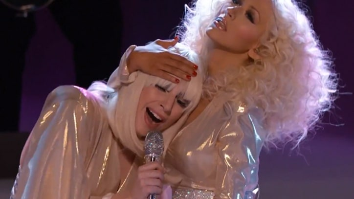Lady Gaga and Christina Aguilera Trade Verses for 'The Voice'