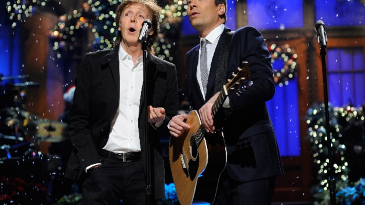 Paul McCartney Makes Merry With Fallon and Timberlake on 'SNL'