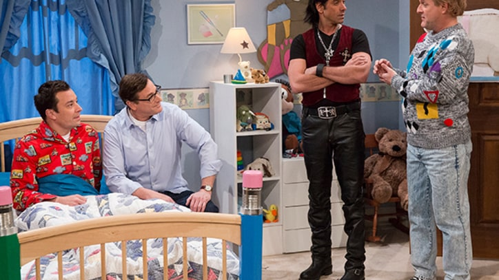 'Full House' Dads Soothe Jimmy Fallon to Sleep on 'Late Night'