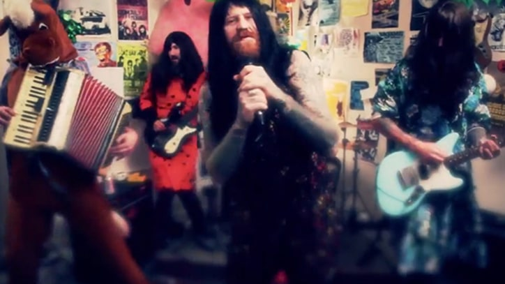 Mastodon Dress in Drag for the Coathangers' 'Follow Me' Video