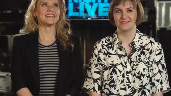 Lena Dunham Goofs on Nudity, Feminism in 'SNL' Promos