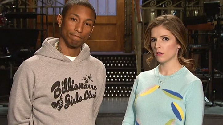 Pharrell Hits 'SNL' With 'Happy,' Hats and Hans Zimmer