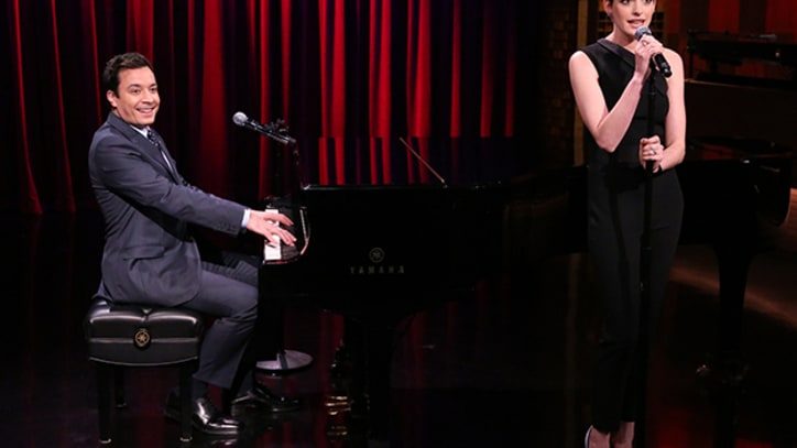 Fallon and Hathaway Cover Rap Broadway-Style on 'The Tonight Show'