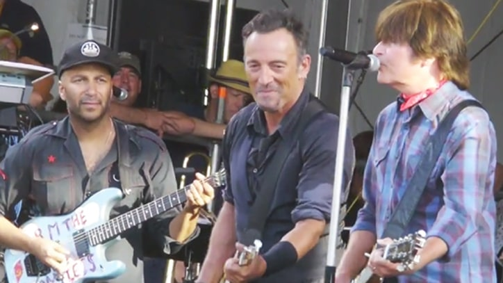Bruce Springsteen Duets With John Fogerty At Jazz Fest