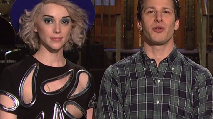 Andy Samberg and St. Vincent Team Up for Goofy 'SNL' Promos