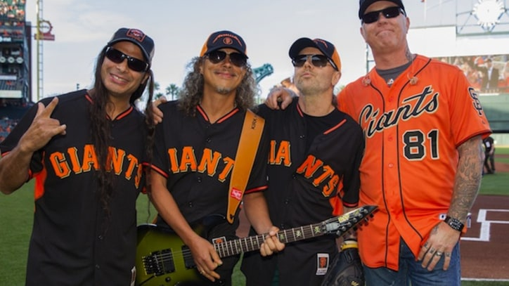 Watch Metallica Rock the National Anthem at a Giants Game