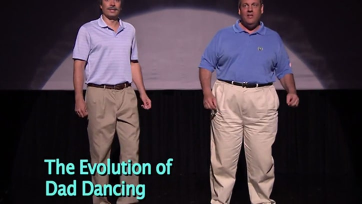 Watch Jimmy Fallon and Chris Christie's 'Evolution of Dad Dancing'