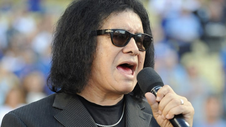 Gene Simmons Sings National Anthem, Salutes America with Devil Horns