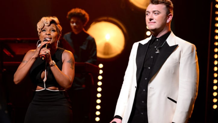 Mary J. Blige Joins Sam Smith for 'Stay With Me' at New York Show