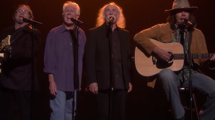 Crosby, Stills and Nash Join Jimmy Fallon on Iggy Azalea's 'Fancy'