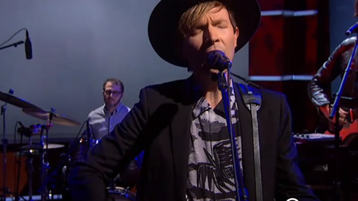 Beck Hits 'Heart Is a Drum,' Climbs 'Heaven's Ladder' on 'Colbert'