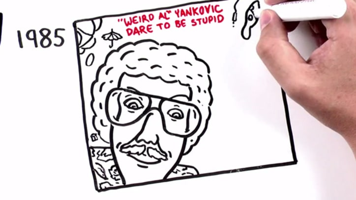 Watch All 14 'Weird Al' Album Covers Get Illustrated in Animated Video