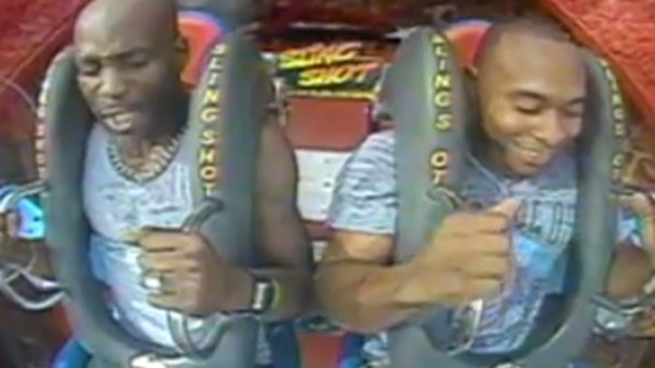 Ruff Flyers: DMX Screams on Orlando Sling Shot Ride