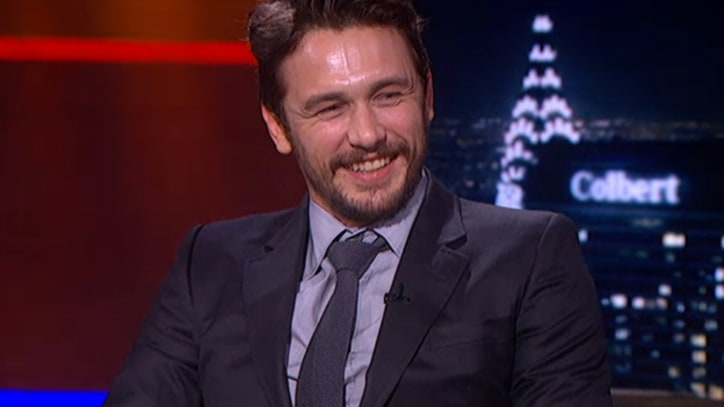 James Franco Tries, Fails to Get Stephen Colbert to Break Character