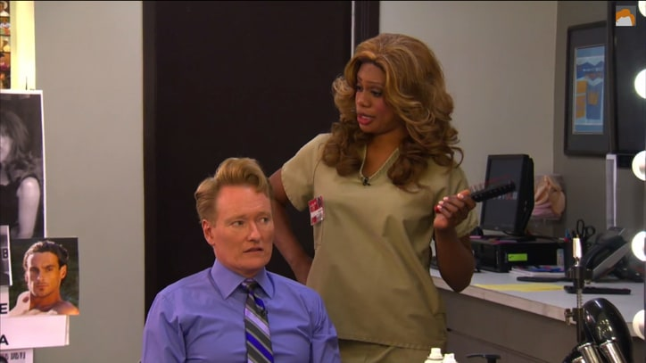 Laverne Cox Applauds 'First Transgender Talk Show Host' Conan O'Brien