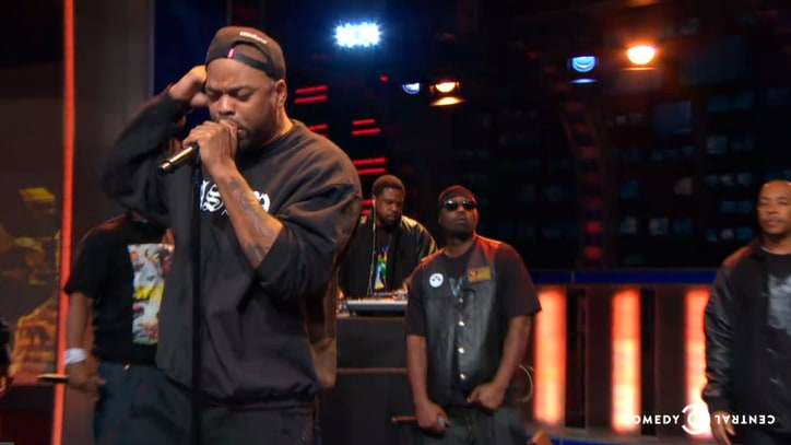 Entire Wu-Tang Clan Reunite on 'Daily Show' to Debut 'Ron O'Neal'