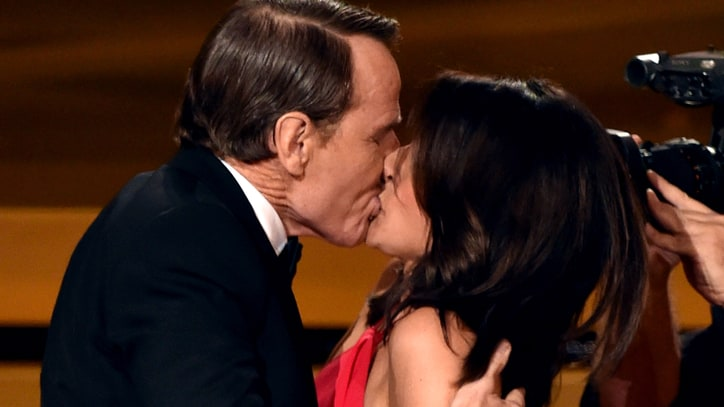 'Seinfeld' Reunion: Julia-Louis Dreyfus and Bryan Cranston Make Out at Emmys