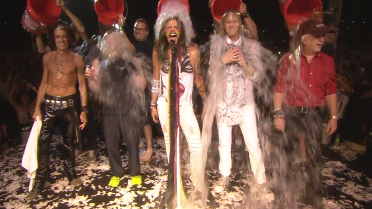 See Aerosmith Take the Ice Bucket Challenge Together