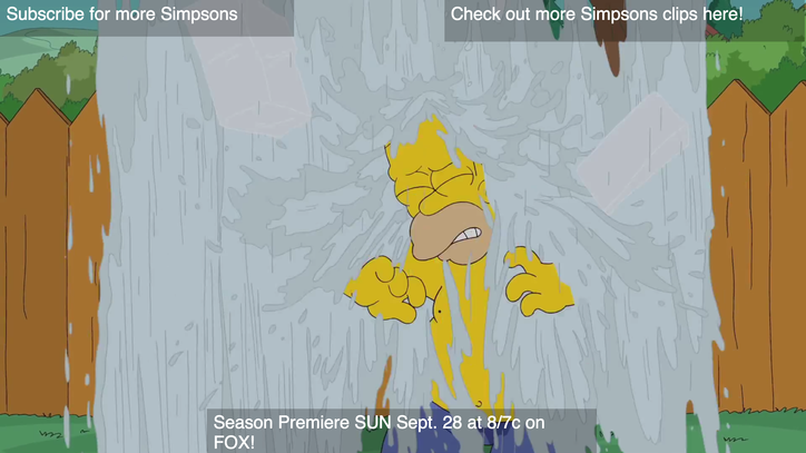 Woo Hoo! See Homer Simpson Take the Ice Bucket Challenge