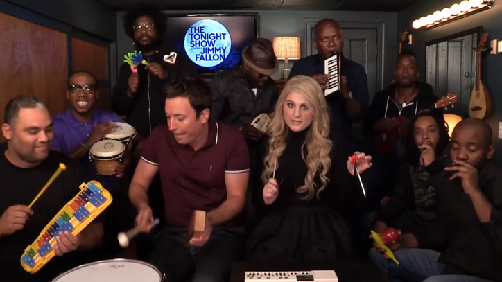 Fallon, Meghan Trainor Celebrate Curves With Classroom Instruments