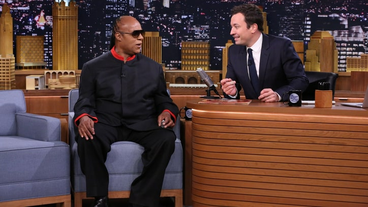 Stevie Wonder Surprises Jimmy Fallon for Host's 40th Birthday