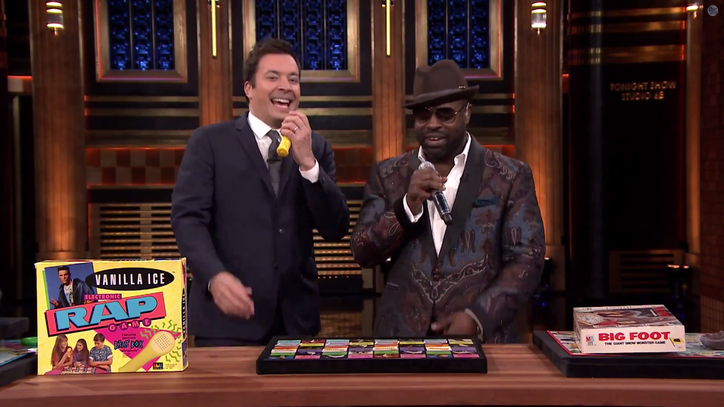 Watch Jimmy Fallon Test Out Ridiculous Vanilla Ice Board Game
