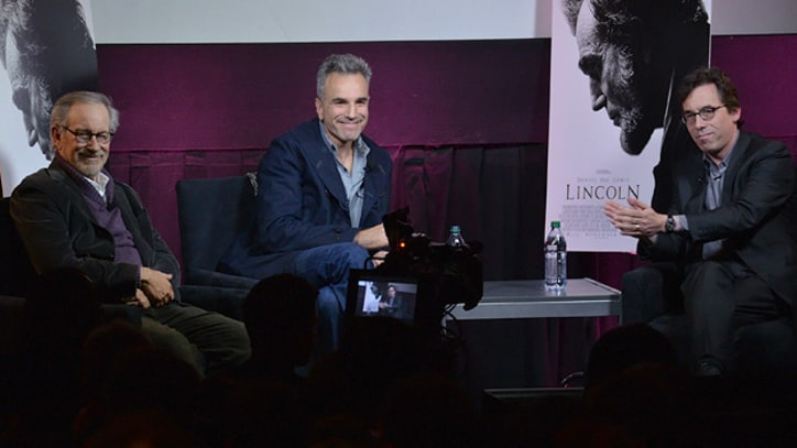 Steven Spielberg, Daniel Day-Lewis Preview 'Lincoln' in New York