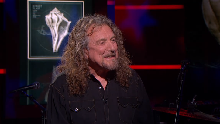 Watch Robert Plant Hand Stephen Colbert a Joint
