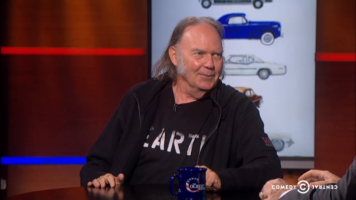 Neil Young Enlists Stephen Colbert as 'Crazy Host' for New Track