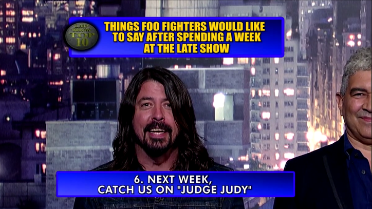 Foo Fighters End 'Letterman' Week With Top Ten List, 'Something From Nothing'