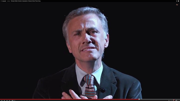 Christoph Waltz Delivers Hilariously Dark Version of 'Sesame Street' Theme