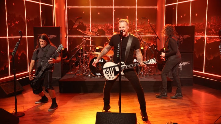 Watch Metallica Douse 'Late Late Show' With Riff-Monster 'Fuel'