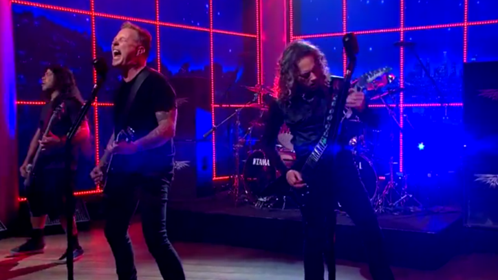 Metallica Wrap Up 'Late Late Show' Residency With 'Sad but True'