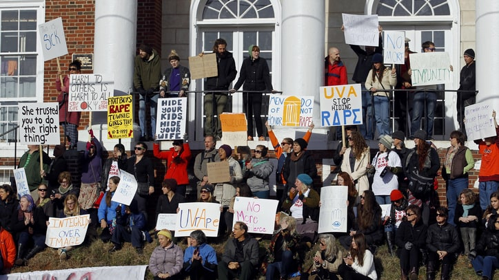 A Weekend of Protest at UVA as Rolling Stone Rape Story Jolts Campus
