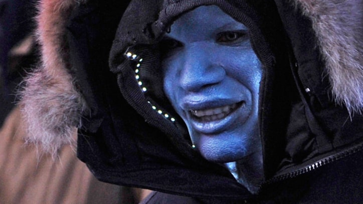 Jamie Foxx Steps Out as Electro on 'Amazing Spider-Man 2' Set