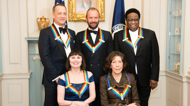 Stephen Colbert Leads Tributes to Sting, Al Green, Tom Hanks at Kennedy Center Gala