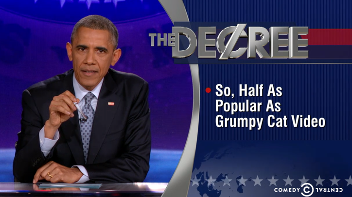 Watch Barack Obama Fill in for Stephen Colbert