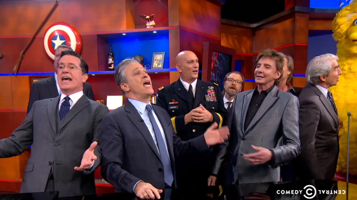 See Stephen Colbert's Epic, Star-Studded Farewell Sing-Along