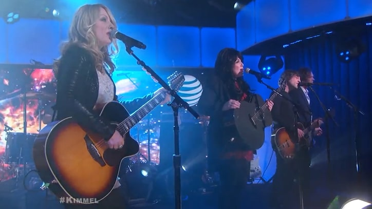 Watch Heart's Spirited Paul McCartney Cover on 'Jimmy Kimmel Live!'