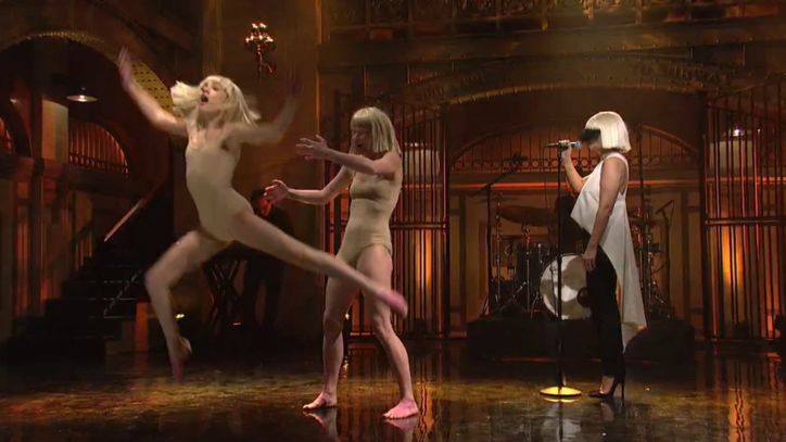 Watch Sia Bring Her Music Videos to Life With Electrifying 'SNL' Performance