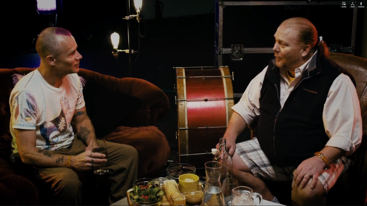 Watch The Edge and Flea Chat Music, Food on Mario Batali's 'Feedback Kitchen'