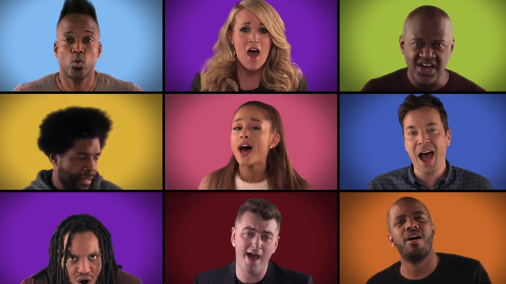 Sam Smith, Ariana Grande, Roots Sing All-Star 'We Are the Champions' on 'Fallon'