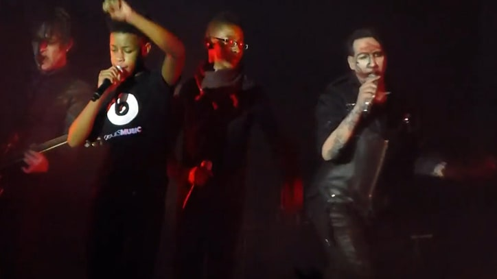 Marilyn Manson Performs 'The Beautiful People' With Teenage Metal Band