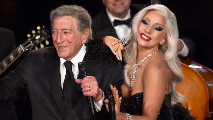 Watch Lady Gaga, Tony Bennett Get Cheeky at the Grammys