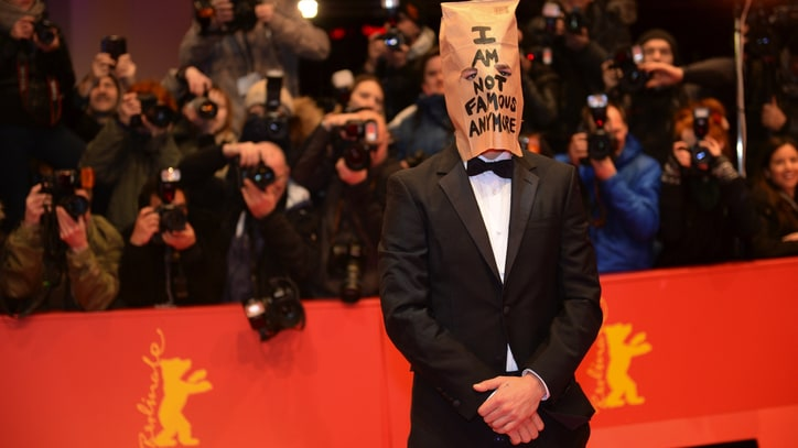Shia LaBeouf Wears Paper Bag While Promoting 'Nymphomaniac' in Berlin