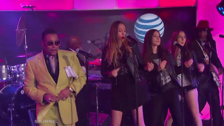 Watch Morris Day and Haim Team Up for 'Jungle Love' on 'Kimmel'