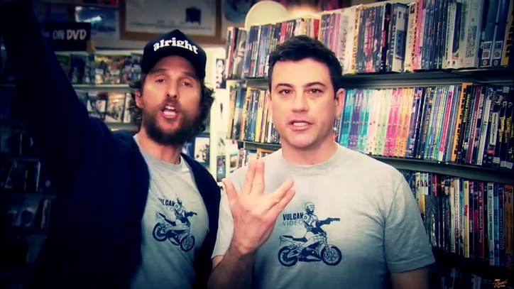 Watch Jimmy Kimmel, Matthew McConaughey Make Ad for Local Video Store