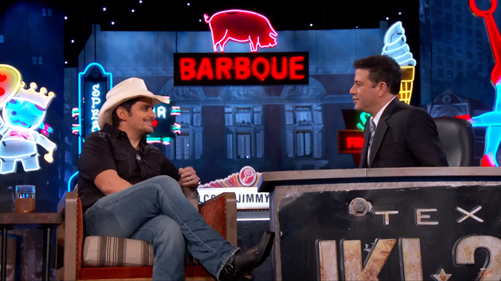 Watch Brad Paisley Give Guillermo a Cowboy Makeover on 'Kimmel'