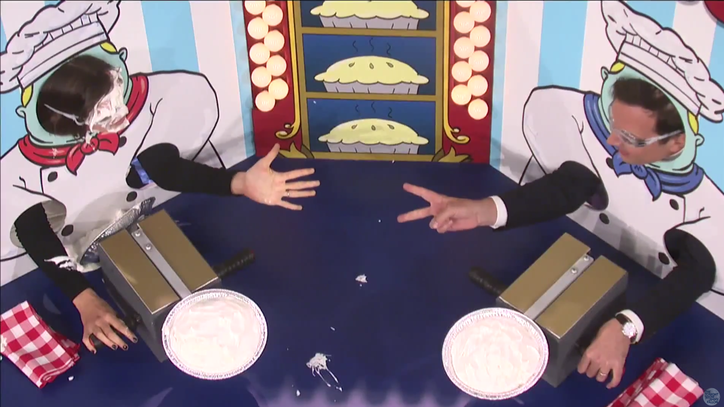 Watch Fallon Play Rock, Paper, Scissors, Pie With Jennifer Garner